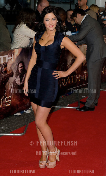 """Jacqueline Jossa arrives for premiere of """"Wrath of the Titans"""" at the IMAX Cinema, South Bank, London. 29/03/2012 Picture by: Simon Burchell / Featureflash"""