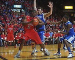 Ole MIss forward Reginald Buckner (2)  works against Kentucky's Josh Harrellson (55) at the C.M. &quot;Tad&quot; Smith Coliseum in Oxford, Miss. on Tuesday, February 1, 2011. Ole Miss won 71-69.