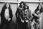 Led Zeppelin 1970 Robert Plant, John Bonham, Jimmy Page and John Paul Jones at Bath Festival.© Chris Walter