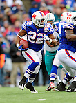 29 November 2009: Buffalo Bills running back Fred Jackson in action against the Miami Dolphins at Ralph Wilson Stadium in Orchard Park, New York. The Bills defeated the Dolphins 31-14. Mandatory Credit: Ed Wolfstein Photo