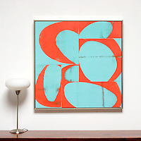 "Arnoldi: Half Nelson, Digital Print, Image Dims. 36"" x 36"", Framed Dims. 37.5"" x 37.5"""