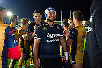 Leroy Houston of Bath Rugby is all smiles after the match. European Rugby Challenge Cup match, between Bath Rugby and Bristol Rugby on October 20, 2016 at the Recreation Ground in Bath, England. Photo by: Patrick Khachfe / Onside Images