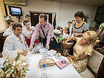 In the green room after Zika show, a live TV variety show watched each Saturday morning by 25% of the Serbian people during it's production and broadcast  in Belgrade, Serbia