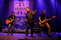 LONDON, ENGLAND - APRIL 15: Phillip Odgers, Stefan Cush and Ricky McGuire of 'The Men They Couldn't Hang' performing at Shepherd's Bush Empire on April 15, 2017 in London, England.<br /> CAP/MAR<br /> &copy;MAR/Capital Pictures