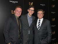 LAS VEGAS, NV - July 12, 2016: ***HOUSE COVERAGE*** Shane Scheel, Creator Producer, Anderson Davis, Creator Director  and George Markantonis, President and COO The Venetian and The Palazzo pictured as BAZ  -Star Crossed Love Opening Night arrivals at The Palazzo Theater at The Palazzo Las Vegas in Las vegas, NV on July 12, 2016. Credit: Erik Kabik Photography/ MediaPunch