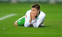 FUSSBALL   1. BUNDESLIGA  SAISON 2011/2012   18. Spieltag 1. FC Kaiserslautern - SV Werder Bremen        21.01.2012 Sebastian Proedl (SV Werder Bremen) muss verletzt ausgewechselt werden