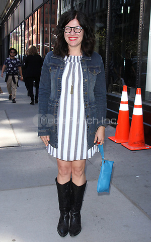 NEW YORK, NY - APRIL 14: Annie J. Howell seen after an appearance on AOL's Build Series in New York City on April 14, 2017. Credit: RW/MediaPunch