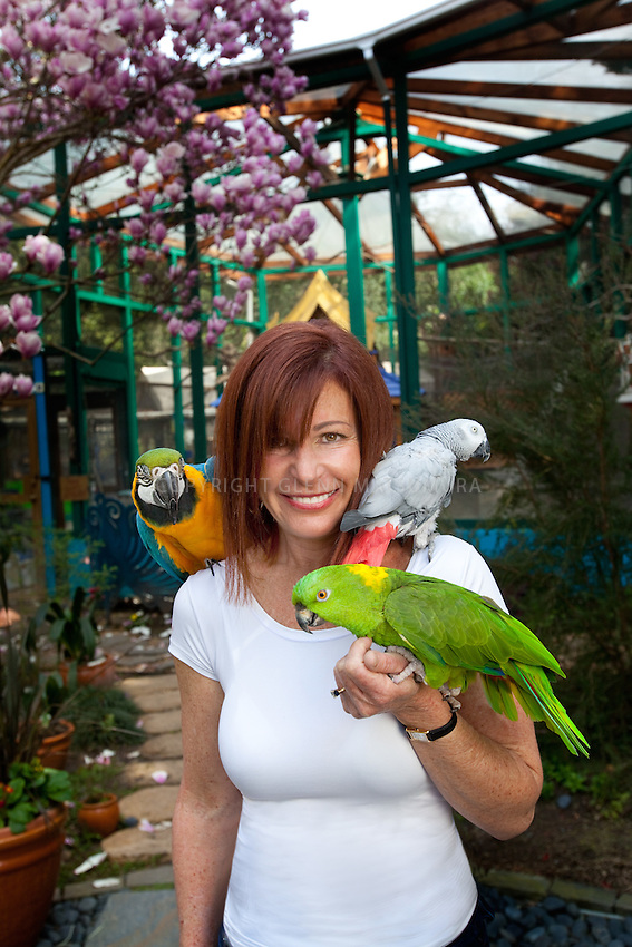 Michele Raffin runs Pandemonium Aviaries, a private bird sanctuary in Los Altos, California. Their mission is to save birds by: providing life-long care to birds that are not suited to be companions, breeding birds that are either endangered in the wild or uncommon in aviculture, and spreading knowledge about birds through articles, books and educational tours. Stanford alum.