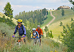 IDAHO. Sun Valley. Mt. Baldy. Mountain Bikers. MR