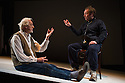 London, UK. 04.04.2013. MY PERFECT MIND, created by Told By An Idiot, written by Kathryn Hunter, Paul Hunter and Edward Petherbridge, opens at the Young Vic theatre. Picture shows: Edward Petherbridge and Paul Hunter. Photograph © Jane Hobson.