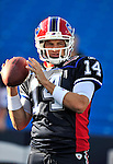 3 September 2009:  Buffalo Bills' quarterback Ryan Fitzpatrick warms up prior to a pre-season game against the Detroit Lions at Ralph Wilson Stadium in Orchard Park, New York. The Lions defeated the Bills 17-6...Mandatory Photo Credit: Ed Wolfstein Photo