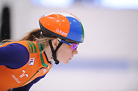 SCHAATSEN: LEEUWARDEN: 08-10-2015, Elfstedenhal, shorttrack time trial, Yara van Kerkhof, ©foto Martin de Jong