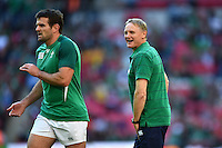 Ireland Head Coach Joe Schmidt looks on during the pre-match warm-up. Rugby World Cup Pool D match between Ireland and Romania on September 27, 2015 at Wembley Stadium in London, England. Photo by: Patrick Khachfe / Onside Images