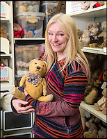 BNPS.co.uk (01202 558833)<br /> Pic: PhilYeomans/BNPS<br /> <br /> Bear hospital boss Rikey Austin.<br /> <br /> Broken bears and deteriorating dolls from all over the world are being brought back to life by a UK team of dedicated doctors and nurses at one of the last remaining toy hospitals.<br /> <br /> The team at Alice's Bear Shop, a teddy bear and doll hospital in Lyme Regis, Dorset, perform all kinds of 'surgery' from simple restringing and re-stuffing to head re-attachments and complete skin grafts.<br /> <br /> Rikey Austin, 49, opened the hospital in January 2000 but also ran a shop and only repaired one or two toys a month.<br /> <br /> Now she has a four-month waiting list for patients and has had to close the shop to focus on the hospital side of the business.