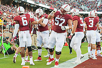 Stanford, CA - September 2, 2016: Team Johnny Caspers during the Stanford vs Kansas State football game at Stanford Stadium. The Cardinal defeated the Wildcats 26-13.