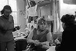 Erin Pizzey. Chiswick Women Aid Shelter for Battered Women. London England 1976