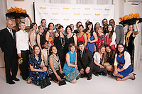 Thomas F. Schutte poses with Pratt Institute Communications and Marketing members, at the Pratt 2011 fashion show and cocktail reception, honoring Hamish Bowles, April 27 2011.