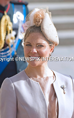 "ROYAL HAT PARADE - CROWN PRINCESS VICTORIA OF SWEDEN.The Religious Wedding of HRH the Hereditary Grand Duke and Countess Stéphanie de Lannoy at the Cathedral of Our lady of Luxembourg, provided an opportune moment for the Royal Ladies to put on a hat show and they did not disappoint with their various styles, Luxembourg_20-10-2012.Mandatory credit photo: ©Dias/NEWSPIX INTERNATIONAL..(Failure to credit will incur a surcharge of 100% of reproduction fees)..                **ALL FEES PAYABLE TO: ""NEWSPIX INTERNATIONAL""**..IMMEDIATE CONFIRMATION OF USAGE REQUIRED:.Newspix International, 31 Chinnery Hill, Bishop's Stortford, ENGLAND CM23 3PS.Tel:+441279 324672  ; Fax: +441279656877.Mobile:  07775681153.e-mail: info@newspixinternational.co.uk"