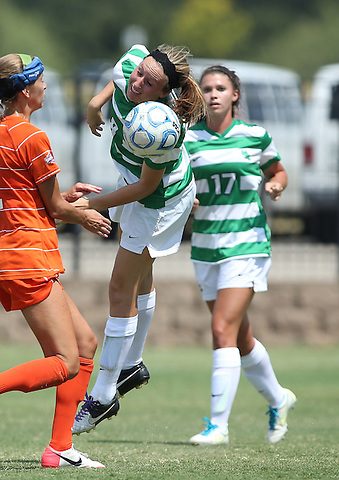 ARLINGTON, TX - AUGUST 25:  Houston Baptist vs North Texas Mean Green Soccer at Mean Green Village Soccer Field in Denton on August 25, 2013 in Denton, Texas. Photo by Rick Yeatts