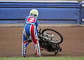 Heat 1 - Dean Barker crashes out - Reading Bulldogs vs Lakeside Hammers - Elite League Speedway at Smallmead, Reading- 23-04-07 - MANDATORY CREDIT: Gavin Ellis/TGSPHOTO - IMAGES USED WILL BE INVOICED AT STANDARD RATES..