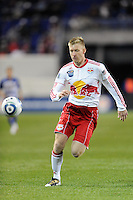 Tim Ream (5) of the New York Red Bulls. The New York Red Bulls defeated FC Dallas 2-1 during a Major League Soccer (MLS) match at Red Bull Arena in Harrison, NJ, on April 17, 2010.