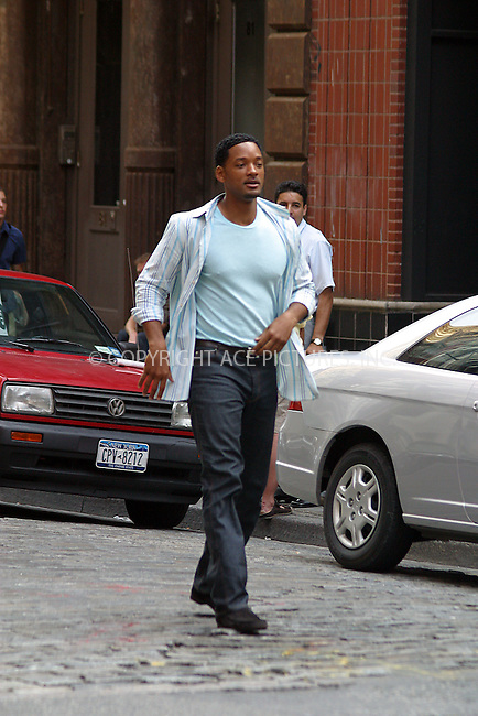 Will Smith on the set of 'Last First Kiss' in New York. June 30, 2004. Please byline: BRIAN FLANNERY/ACE Pictures.   ..  *** ***..All Celebrity Entertainment, Inc:  ..contact: Alecsey Boldeskul (646) 267-6913 ..Philip Vaughan (646) 769-0430..e-mail: info@nyphotopress.com