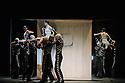 "London, UK. 12.04.2016. English National Ballet presents the World Premiere of the triple bill, ""She Said""; work made by female choreographers, Annabelle Lopez Ochoa, Yabin Wang and Aszure Barton. This piece is: Broken Wings, by Annabelle Lopez Ochoa. Dancers are: Tamara Rojo (Frida Kahlo), Irek Mukhamedov (Diego Rivera), Cesar Corrales (Young BOy), Begona Cao (Diego's Mistress), Jeanette Kakareka (Stag), Katja Khaniukova (girl). Photograph © Jane Hobson."