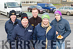 Brake Marks<br /> -----------------<br /> L-R Tadhg Dineen, Pat Hanafin, Luke Doody, Tony Dineen with Brian Meade from Dingle at the service area last Sunday in Ballyheigue during the Winter stages rally.