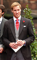 Prince William attends the wedding of Lady Tamara Katherine Grosvenor & Edward Van Cutsem at Chester Cathedral..Picture: UK Press