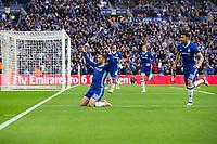 Chelsea's Eden Hazard celebrates scoring his sides third goal      <br /> <br /> <br /> Photographer Craig Mercer/CameraSport<br /> <br /> Emirates FA Cup Semi-Final - Chelsea v Tottenham Hotspur - Saturday 22nd April 2017 - Wembley Stadium - London<br />  <br /> World Copyright &copy; 2017 CameraSport. All rights reserved. 43 Linden Ave. Countesthorpe. Leicester. England. LE8 5PG - Tel: +44 (0) 116 277 4147 - admin@camerasport.com - www.camerasport.com