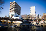 The Truckee River flows through Reno, NV, December 2, 2009.