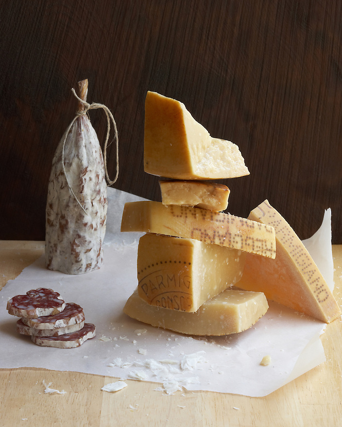 Parmesan Cheese and Salami