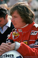 LONG BEACH, CA - MARCH 15: Didier Pironi waits to drive his Ferrari F126CK 050/Ferrari 021 during practice for the United States Grand Prix West on March 15, 1981, on the temporary street circuit in Long Beach, California.