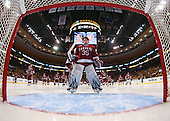 Ryan Carroll (Harvard - 35) - The Northeastern University Huskies defeated the Harvard University Crimson 4-1 (EN) on Monday, February 8, 2010, at the TD Garden in Boston, Massachusetts, in the 2010 Beanpot consolation game.