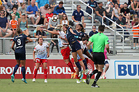 Cary, North Carolina  - Sunday May 21, 2017: Julie Ertz, Ashley Hatch, and Jessica McDonald during a regular season National Women's Soccer League (NWSL) match between the North Carolina Courage and the Chicago Red Stars at Sahlen's Stadium at WakeMed Soccer Park. Chicago won the game 3-1.