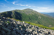 Mount Adams from Six Husbands Trail in the White Mountains, New Hampshire USA during the summer months.