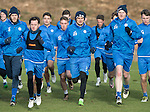 St Johnstone Training&hellip;03.02.17<br />Striker Graham Cummins (centre) runs alongside Danny Swanson and Brian Easton during training this morning at McDiarmid Park ahead of Snday&rsquo;s game against Celtic.<br />Picture by Graeme Hart.<br />Copyright Perthshire Picture Agency<br />Tel: 01738 623350  Mobile: 07990 594431