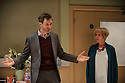 London, UK. 14.01.2016. Covent Garden Productions present 4000 DAYS, by Peter Quilter, at the Park Theatre. Directed by Matt Aston and starring Alistair McGowan ( Michael), Maggie Ollerenshaw (Carol) and Daniel Weyman (Paul). Photograph © Jane Hobson.