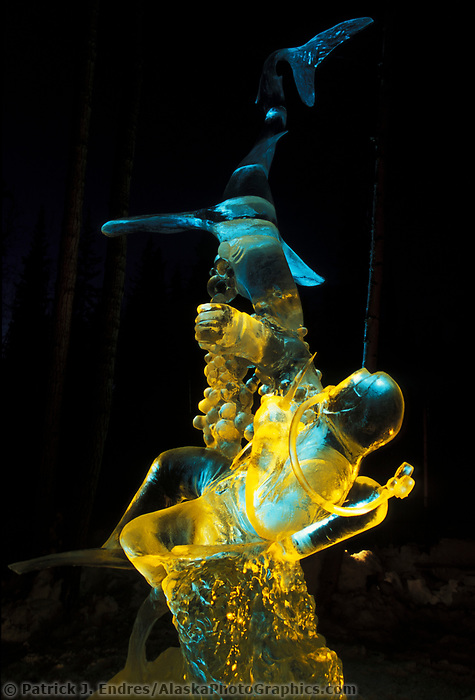 Ice Sculpture at the World Ice Sculpting Championships in Fairbanks, Alaska