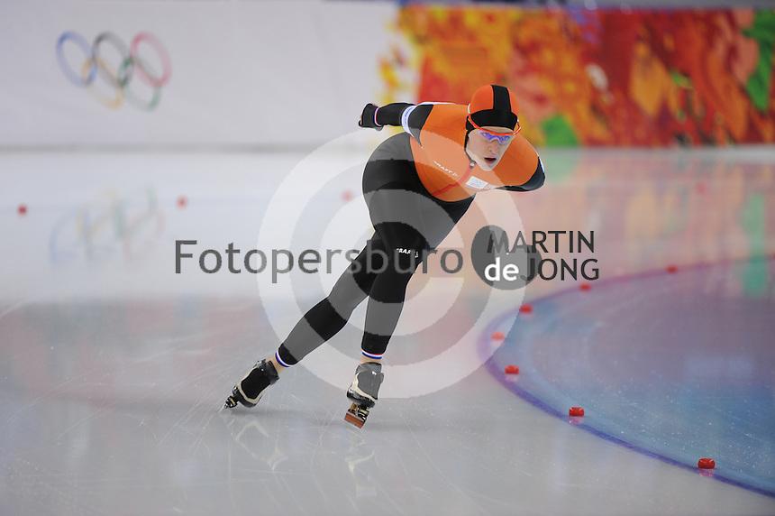 OLYMPICS: SOCHI: Adler Arena, 19-02-2014, Ladies' 5000m, Ireen Wüst (NED), ©photo Martin de Jong