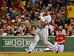 8 June 2012: Washington Nationals first baseman Adam LaRoche in action against the Boston Red Sox at Fenway Park in Boston, MA. The Nationals defeated the Red Sox 7-4 in the opening game of their 3-game series. Mandatory Credit: Ed Wolfstein Photo