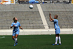 23 August 2003: The Augustyniak twins Julie (left) and Nancy (right). The Atlanta Beat practiced at Torero Stadium in San Diego, CA the day before playing the WUSA's Founders Cup III championship game.