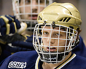 T.J. Tynan (Notre Dame - 18) - The University of Notre Dame Fighting Irish defeated the Merrimack College Warriors 4-3 in overtime in their NCAA Northeast Regional Semi-Final on Saturday, March 26, 2011, at Verizon Wireless Arena in Manchester, New Hampshire.