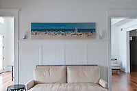 Main Beach, Canvas Print 20x99