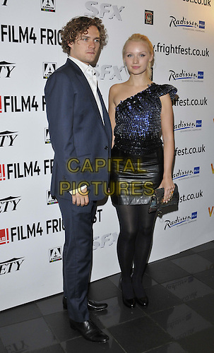 "LONDON, ENGLAND - AUGUST 22: Finn Jones & Emily Berrington attend the ""The Last Showing"" UK film premiere, Film4 FrightFest day 2, Vue West End cinema, Leicester Square, on Friday August 22, 2014 in London, England, UK. <br /> CAP/CAN<br /> ©Can Nguyen/Capital Pictures"