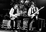 Les Paul and Jeff Beck 1983 on Rock And Roll Tonite TV show.<br /> &copy; Chris Walter