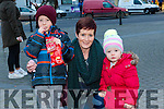 Enjoying the Christmas Lights in Listowel were Oisin Home, Berni Sheehy, Anna Home from Tarbert