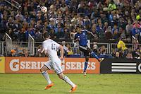 Santa Clara, California - October 18, 2014:  San Jose Earthquakes face off against Vancouver Whitecaps FC at Buck Shaw Stadium on Saturday night.