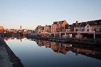 Quai Bélu, Saint-Leu quarter, Amiens, Somme, Picardie, France. Picture by Manuel Cohen
