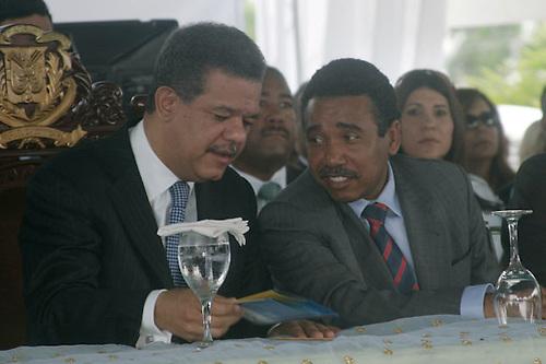 Leonel Fernández y Félix Bautista.